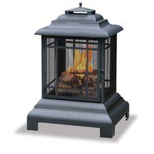 Steel Wood Pagoda Fireplace