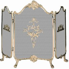 Ornate Solid Brass Fireplace Screen