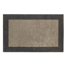 Manhattan Silver/Charcoal Solid Bordered Area Rug
