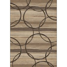 Eclipse Brown Circles Area Rug