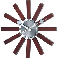 Telechron Modern Wall Clock in Walnut
