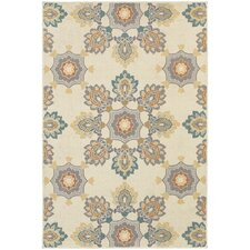 Hawkins Indoor/Outdoor Large Scale Floral Ivory/Grey Area Rug