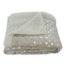 Dots Sherpa Reversible Faux Lamb's Wool Throw Blanket