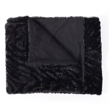 Animal Decorative Reversible Faux Fur and Mink Throw Blanket