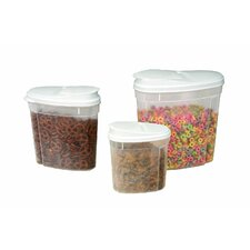 3 Piece Cereal/Dry Foods Storage Container Set