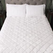 Snuggle Home Quilted Fitted Memory Foam Bed Mattress Pad