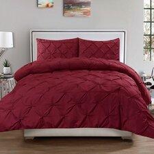 Luxurious Pinch Pleat 3 Piece Full/Queen Comforter Set