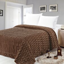 Box Pattern Soft Plush Faux Mink Fur Throw Blanket
