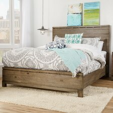 Pax Panel Bed in Weathered Grey