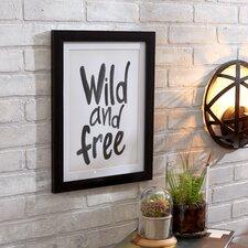 Wild and Free Textual Art Print