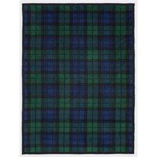 Black Watch Plaid Cotton Blend Blanket