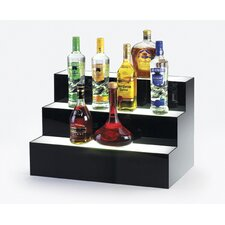 3 Step Bottle Display with Light