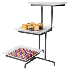 3 Tier Square Plate Display