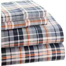 Park Avenue 350 Thread Count Cotton Rich Plaid Printed Sheet Set