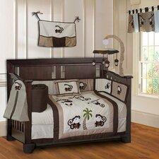Monkey Neutral Baby 10 Piece Crib Bedding Set