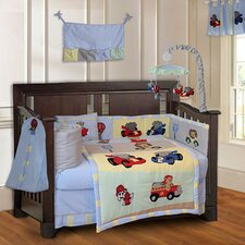 Animal Zoom Car Racing Baby 10 Piece Crib Bedding Set