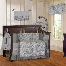 Damask 10 Piece Crib Bedding Set