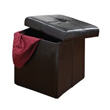 Single Folding Upholstered Storage Ottoman