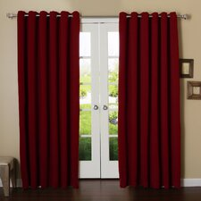 Extra Wide Width Thermal Insulated Grommet Top Blackout Curtain Panel