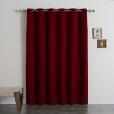 Wide Width Thermal Insulated Grommet Top Blackout Curtain Panel