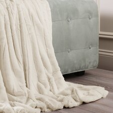 Luxe Mink Faux Fur Throw Blanket