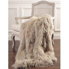 Mongolian Lamb Faux Fur Throw