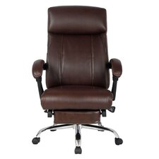 High Back Leather Recliner Office Chair with Padded Headrest and Armrest