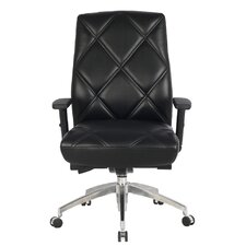 Viva Office High Back Bonded Leather Executive Chair with Adjustable Armrest