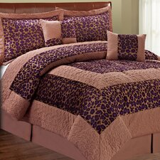 Safari Blackberry Fall Cheetah 6 Piece Comforter Set