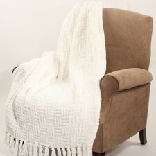 Cable Knitted Polyester Throw Blanket