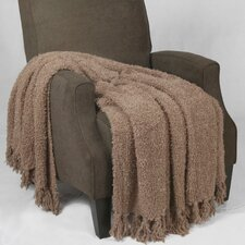 Fluffy Knitted Throw Blanket