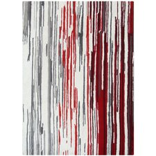 Boardwalk Off-White/Red Area Rug