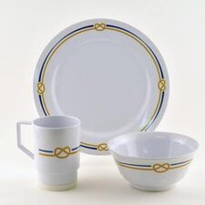 Decorated Rope 18 Piece Dinnerware Gift Set
