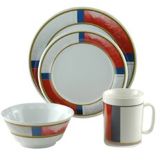 Decorated Life Preserver 16 Piece Dinnerware Gift Set