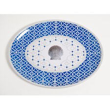 Yacht and Home Moroccan Shell Melamine Oval Platter
