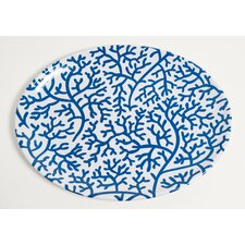 Yacht and Home Coral Melamine Oval Platter