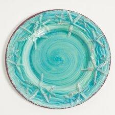"""Raised Starfish 11"""" Melamine Dinner Plate (Set of 4)"""