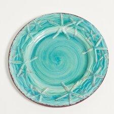 """Raised Starfish 9"""" Melamine Salad/Dessert Plate (Set of 6)"""