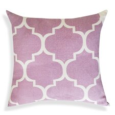 Thistle Printed Ogee Ikat Cotton Throw Pillow