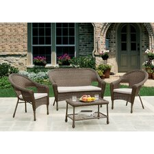 Earth Upgrade Entertainment 4 Piece Deep Seating Group with Cushion