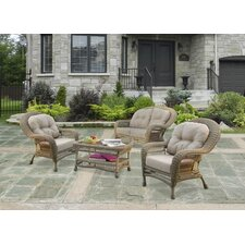 Saturn 4 Piece Seating Group Set with Cushion