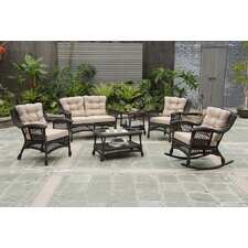 Moon 6 Piece Seating Group Set with Cushion