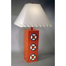 """Three Life Ring 32"""" H Table Lamp with Empire Shade"""