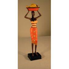 Jamaican Lady with Bananas Figurine