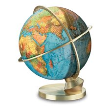 Marco Polo Illuminated Desktop Globe with Stainless Steel Base
