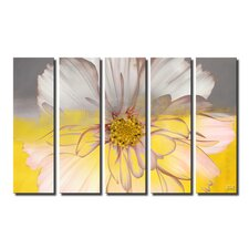 Painted Petals XXXIV 5 Piece Graphic Art on Wrapped Canvas Set