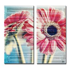 'Painted Petals XXI' 2 Piece Graphic Art on Wrapped Canvas Set