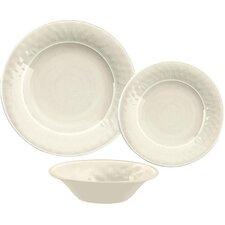 Glazed Crackle Melamine 12 Piece Dinnerware Set