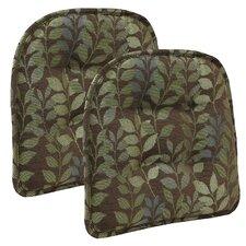 Dora Ascending Leaves Gripper Tufted Chair Cushion (Set of 2)