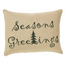 Evergreen Season's Greetings Cotton Pillow Cover